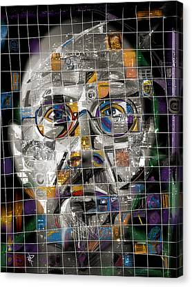 Chuck Close Canvas Print by Russell Pierce