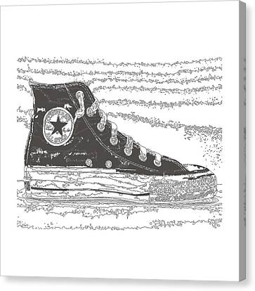 Chuck Taylor High Tops Canvas Print by Michael Lax