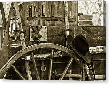 Chuck Wagon Tools Of The Trade Canvas Print