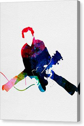 Chuck Watercolor Canvas Print by Naxart Studio