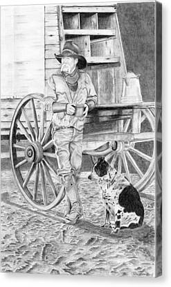 Dog Wants A Donut Canvas Print by Russell Britton