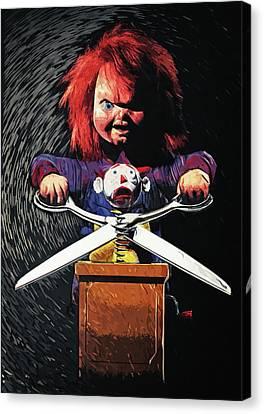 Chucky Canvas Print - Chucky by Taylan Apukovska