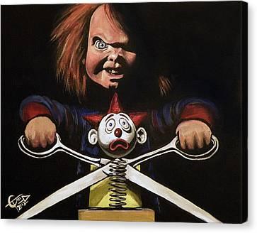Chucky Canvas Print - Chucky by Tom Carlton