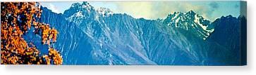 Canvas Print featuring the photograph Chugach Mountains In Fall by Judyann Matthews