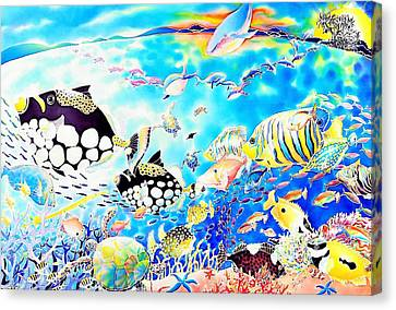 Churaumi Party Canvas Print by Hisayo Ohta