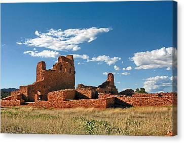 Church Abo - Salinas Pueblo Missions Ruins - New Mexico - National Monument Canvas Print by Christine Till