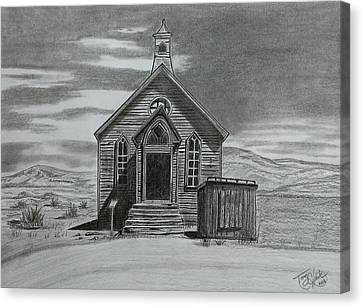 Church  At Bodie  Canvas Print by Tony Clark