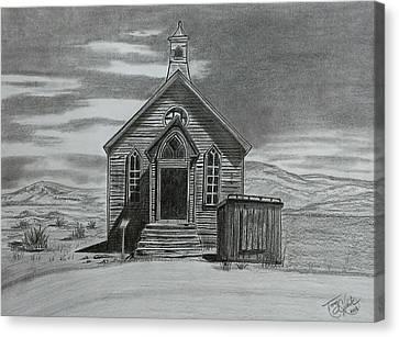 Church  At Bodie  Canvas Print