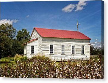 Church At Frogmore Plantation Canvas Print by Frank J Benz
