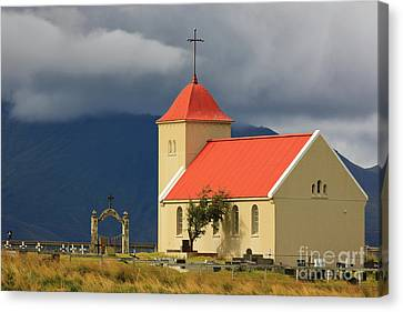 Church At Kolbeinsstadir  Canvas Print by Henk Meijer Photography