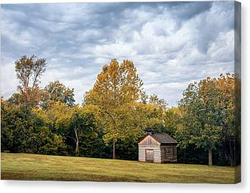 Turbulent Skies Canvas Print - Church At Prairie Grove Battlefield by James Barber