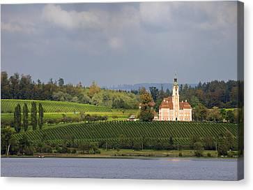 Church Birnau Lake Constance In Great Landscape Canvas Print