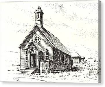 Church Bodie Ghost Town California Canvas Print by Kevin Heaney