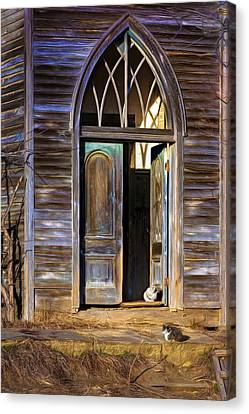 Church Cats Canvas Print by Nikolyn McDonald