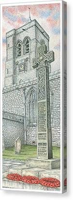 Church Clock Canvas Print by Sandra Moore