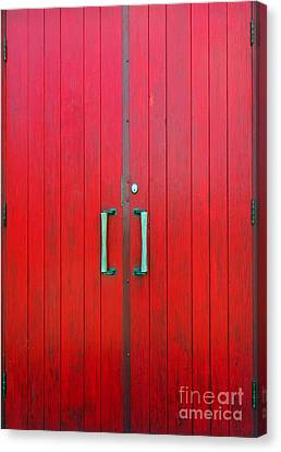 Church Door Canvas Print by Ethna Gillespie