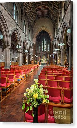 Church Flowers Canvas Print by Adrian Evans