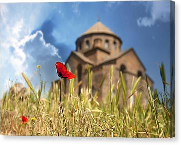 Church  Canvas Print by Gouzel -