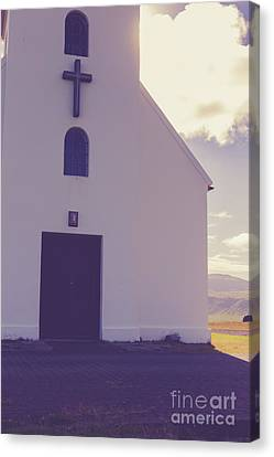 Canvas Print featuring the photograph Church Iceland by Edward Fielding