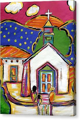 Church In Blanco Canvas Print