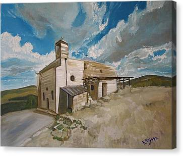 Church In Iqrit Canvas Print by Marwan  Khayat