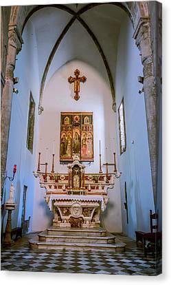 Church In Manarola Cinque Terre Italy Canvas Print by Joan Carroll