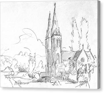 Vancouver Canvas Print - Church In North Vancouver by Dorothy Hilde