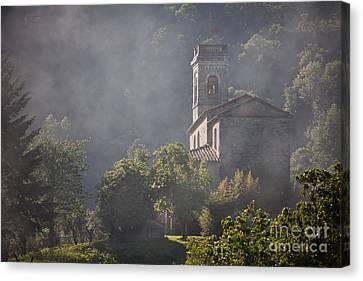 Church In Partigliano Canvas Print by Steven Gray