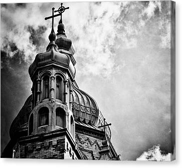 Canvas Print featuring the photograph Church In The Clouds by Sheryl Thomas