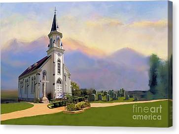 Church In The Wildwood Canvas Print by Janette Boyd and Nancy Noyes