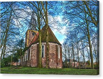 Church In Winsum Canvas Print