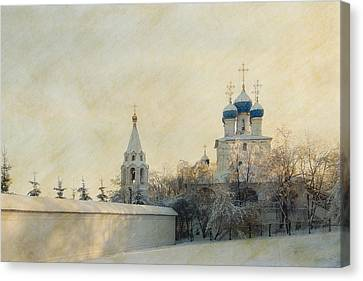 Church In Winter Estate Canvas Print by Konstantin Sevostyanov