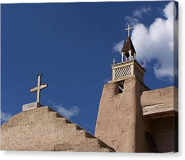 San Jose De Gracia Church, Las Trampas, N.m. Canvas Print