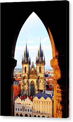 Canvas Print featuring the photograph Church Of Our Lady Before Tyn by Fabrizio Troiani