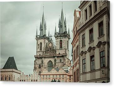 Canvas Print featuring the photograph Church Of Our Lady Before Tyn by Jenny Rainbow