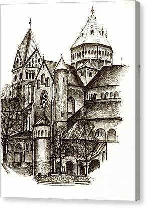 Architektur Canvas Print - Church Of St. Anna Munich by Karina Plachetka