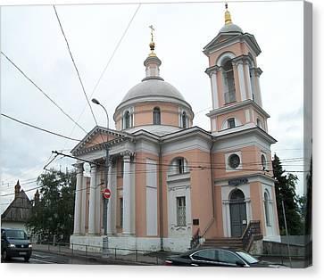 Church Of St. Barbara On Varvarka Street Canvas Print by James Hanemaayer