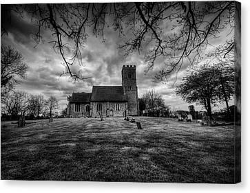 St Botolph St Canvas Print - Church Of St Botolph Churchyard by Nigel Bangert