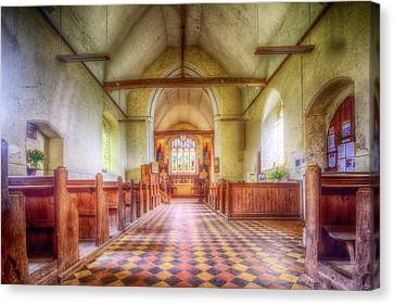 St Botolph St Canvas Print - Church Of St Botolph Interior by Nigel Bangert
