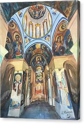 Church Of St. George, Kyustendil, Bulgaria Canvas Print by Henrieta Maneva