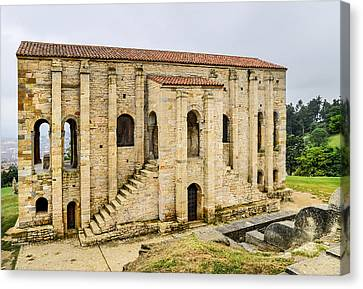 Church Of St Mary At Mount Naranco Year 848 Canvas Print by Guido Montanes Castillo