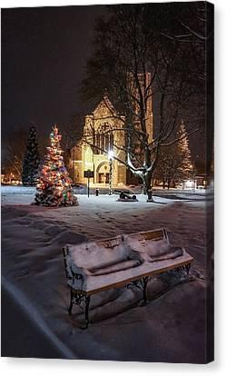 Church Of St Mary St Paul At Christmas Canvas Print