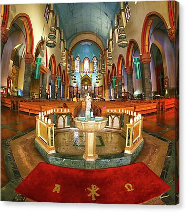 Canvas Print featuring the photograph Church Of St. Paul The Apostle by Mitch Cat