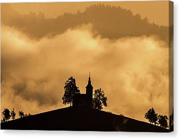 Canvas Print featuring the photograph Church Of St. Thomas #2 - Slovenia by Stuart Litoff