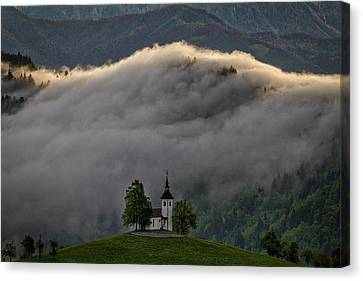 Canvas Print featuring the photograph Church Of St. Thomas - Slovenia by Stuart Litoff