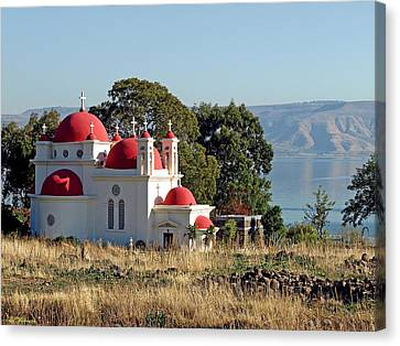 Church Of The Apostles Canvas Print by Arik Baltinester