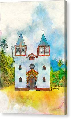 Church Of The Holy Family Canvas Print