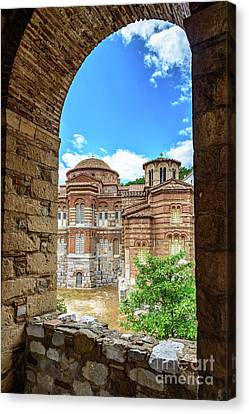 Church Of The Holy Luke At Monastery Of Hosios Loukas In Greece Canvas Print