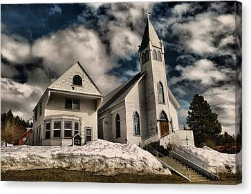 Canvas Print featuring the photograph Church Of The Immaculate Conception Roslyn Wa by Jeff Swan