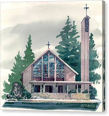 Church Of The Immaculate Heart Of Mary Canvas Print by Donald Maier